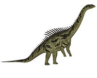 Agustinia dinosaur - 3D render Royalty Free Stock Photography