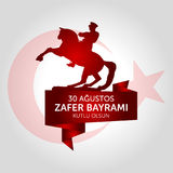 30 August, Victory Day Turkey celebration card. royalty free illustration