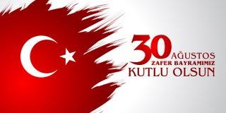 30 Agustos Zafer Bayrami Översättning: Augusti 30 beröm av segern och den nationella dagen i Turkiet Royaltyfri Foto