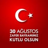 30 Agustos Zafer Bayrami Übersetzung: Am 30. August Feier des Sieges und der Nationaltag in der Türkei Stockfoto