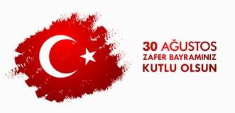 30 Agustos Zafer Bayrami Przekład: Sierpień 30 świętowanie zwycięstwo i święto państwowe w Turcja Obraz Royalty Free