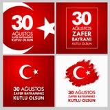 30 Agustos Zafer Bayrami Przekład: Sierpień 30 świętowanie zwycięstwo i święto państwowe w Turcja Obrazy Royalty Free