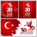 30 Agustos Zafer Bayrami Przekład: Sierpień 30 świętowanie zwycięstwo i święto państwowe w Turcja Fotografia Royalty Free