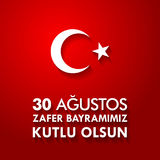 30 Agustos Zafer Bayrami Tradução: Celebração do 30 de agosto da vitória e o dia nacional em Turquia Foto de Stock