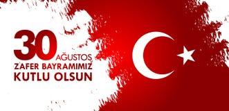30 Agustos Zafer Bayrami Traduzione: Celebrazione del 30 agosto della vittoria e la festa nazionale in Turchia Immagini Stock Libere da Diritti