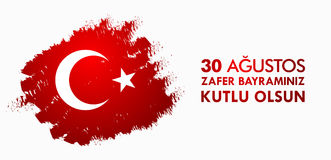 30 Agustos Zafer Bayrami. Translation: August 30 celebration of victory and the National Day in Turkey Royalty Free Stock Image