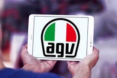 AGV helmet manufacturer logo. Logo of AGV helmet manufacturer on samsung tablet . AGV is an Italian motorcycle helmet firm Stock Photo