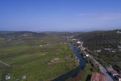 Agva è villaggio molto sveglio a Costantinopoli prende la a con il fuco Fotografia Stock Libera da Diritti