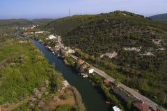 Agva è villaggio molto sveglio a Costantinopoli prende la a con il fuco Immagine Stock