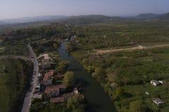 Agva è villaggio molto sveglio a Costantinopoli prende la a con il fuco Immagini Stock Libere da Diritti