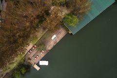 Agva is very cute village in Istanbul take a  with drone Royalty Free Stock Image