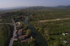 Agva is very cute village in Istanbul take a  with drone Royalty Free Stock Images