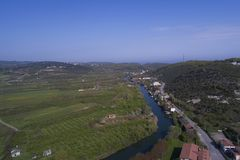 Agva is very cute village in Istanbul take a  with drone Royalty Free Stock Photo