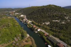Agva is very cute village in Istanbul take a  with drone Stock Image