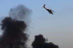 Ah-64 ελικόπτερο Apache Στοκ εικόνες με δικαίωμα ελεύθερης χρήσης