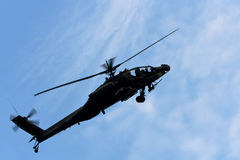 AH 64 Apache-Hubschrauber Stockbild