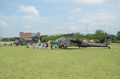 AH-64 Apache Helicopter display. Apache Helicopter display in camp Mabry in Austin, Texas during an event on 26-27 April,2014 Stock Photography