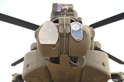 AH-64E TADS/PNVS close-up. Apache Attack Helicopter target recognition targeting system / pilot night vision system close-up Royalty Free Stock Photography