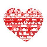 Ah, het vreemd hart. Stock Afbeelding