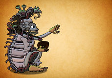 Ah Puch ancient mayan - aztec deity. On a texture background Royalty Free Stock Image
