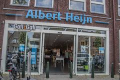 AH Supermarket At Weesp The Netherlands. 2018 Royalty Free Stock Images