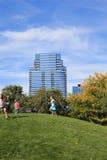 Ah-vangenen-Awen Park, Grand Rapids Michigan stock foto