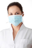 AH1N1 concept - young nurse Stock Photography