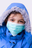 AH1N1 AND PROTECTION OF PANDEMIC. Prevention is important in protecting health from four Royalty Free Stock Photo