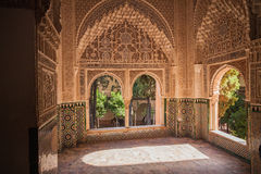Alhambra palace in Granada. Andalucia, Spain Royalty Free Stock Photo