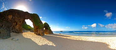 Ahao Rock Arch of Batanes Philippines Stock Images