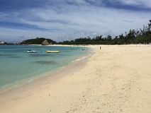 Aharen海滩, tokashiki海岛,冲绳岛,日本 免版税库存照片