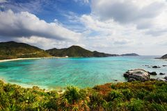 Aharen Beach in Okinawa Stock Image