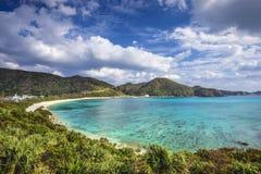 Aharen plaża w Okinawa, Japonia Zdjęcie Royalty Free