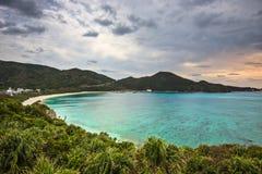 Aharen strand i Okinawa arkivfoton