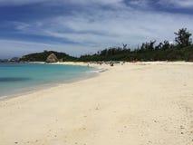 Aharen strand, tokashikiö, Okinawa, Japan Arkivfoton