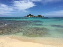 Aharen wyrzucać na brzeg, tokashiki wyspa, Okinawa, Japonia Fotografia Royalty Free