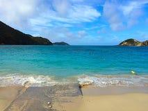Aharen wyrzucać na brzeg, tokashiki wyspa, Okinawa, Japonia Fotografia Stock
