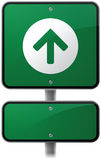 Ahead Arrow Road Sign. Arrow road sign with space for copy vector illustration