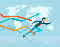 Ahead business consulting Stock Image