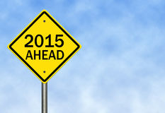 2015 Ahead. Image to use in an optimistic view on year 2015. Can be also used for review of the year 2015 Royalty Free Stock Photos