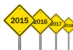 2015 Ahead. Image to use in an optimistic view on year 2015. Can be also used for review of the year 2015 Royalty Free Stock Image