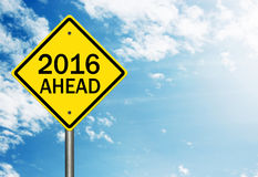 2016 Ahead. Image to use in an optimistic view on year 2016. Can be also used for review of the year 2016 Stock Images