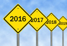 2016 Ahead Stock Photos