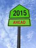 2015 ahead roadsign Stock Photo
