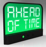 Ahead Of Time Clock Shows Earlier Than Expected Royalty Free Stock Image