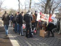 Ahed Tamimi Hashtag, kobiety ` s Marzec, NYC, NY, usa Zdjęcie Stock
