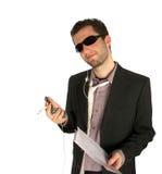 Ahh? ese receptor de papel del trabajo - zumbido hecho? Imagen de archivo libre de regalías