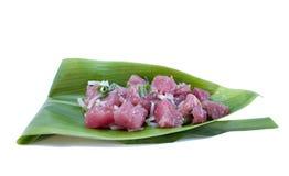 ahi捅沙拉生鱼片金枪鱼 库存图片