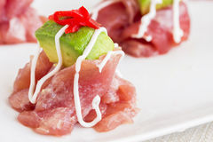 Ahi Carpaccio Stock Photography