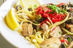 Ahi Pasta Royalty Free Stock Photo